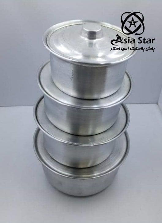 فروش سرویس قابلمه ۴ عددی کوچک - آسیا استار