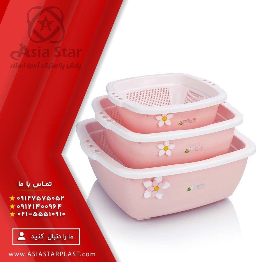 فروش ست آبکش و لگن شش پارچه پاتریس - پخش پلاستیک آسیا استار