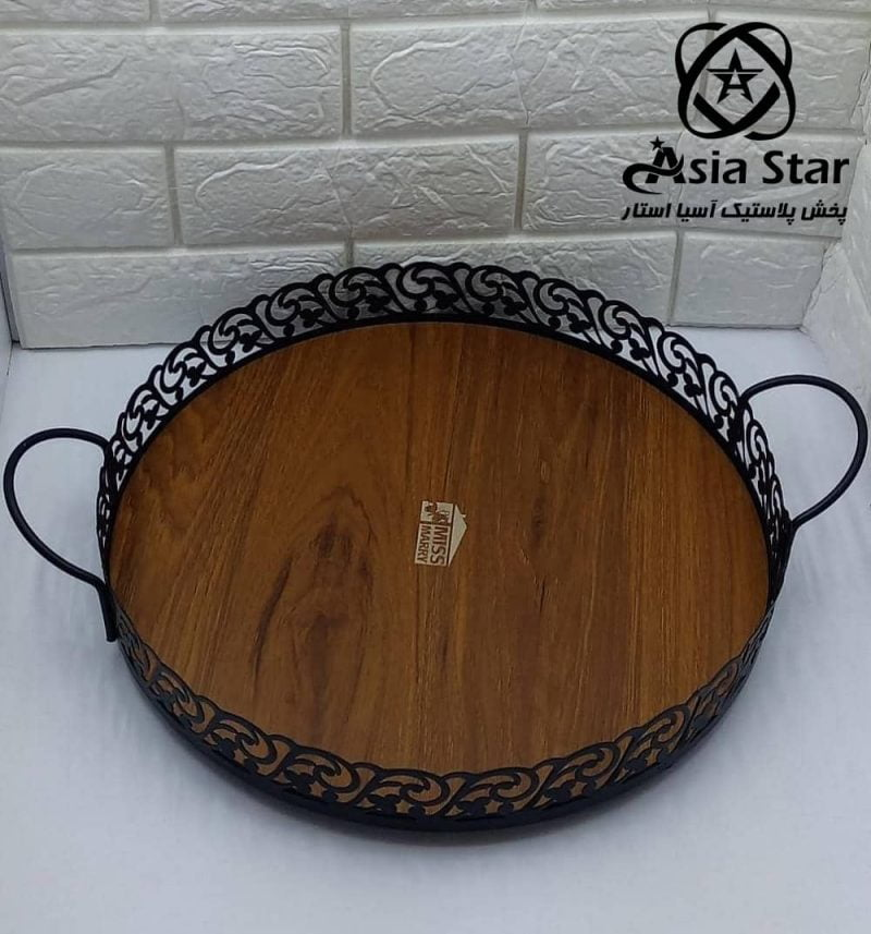 sale-tray-patterned-floor-wooden-round-pic-2